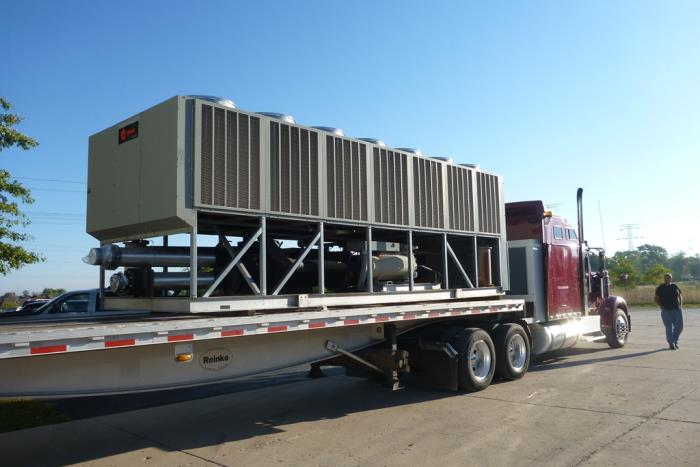 Used 250 Ton Trane RTAC250 Air Cooled Surplus Used Chiller