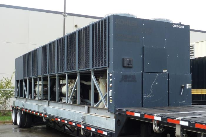 Used 300 Ton Trane RTAC300 Air Cooled Surplus Used Chiller