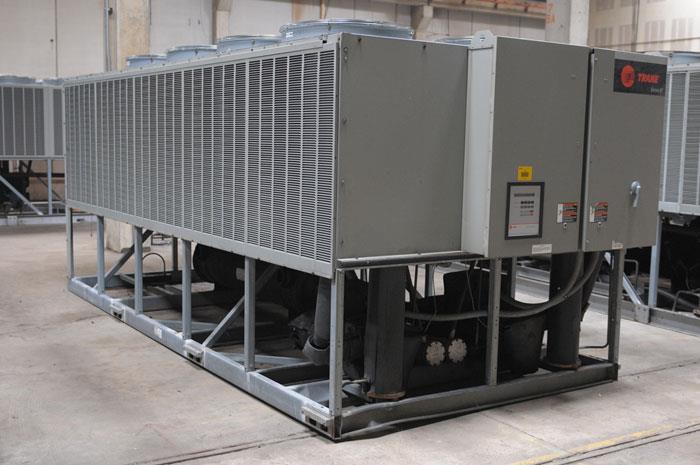 Used 80 Ton Trane Rtaa080 Air Cooled Surplus Used Chiller